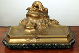 Bronze Inkstand modeled as a stalking cat