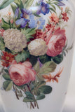 White Opaline Baccarat Glass Floral Painted Vase
