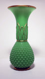 Pair of French Baccarat Chrysoprase 'Uranium' Green Opaline Art Glass Vases