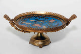 French  Bronze & Cloisonne Centerpiece