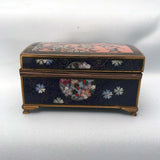 Japanese Cloisonné Box with Birds and Flowers