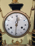 French, Louis XVI Period Marble and Ormolu Portico Clock