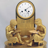 French Empire Gilt Bronze Mantel Clock