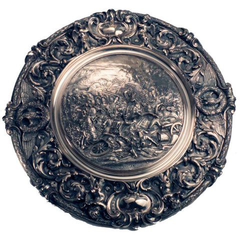 Sideboard Dish, Cast with a Cavalry Charge at Waterloo