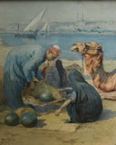 "Tony Binder 1868-1944 ""Cairo"" Orientalist Watercolor"