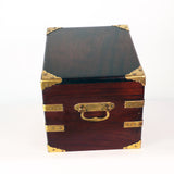Edwardian Mahogany and Gilt Brass Bound Humidor by Benson and Hedges