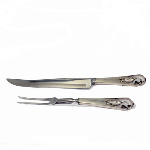 Carl Poul Petersen Sterling Carving Set