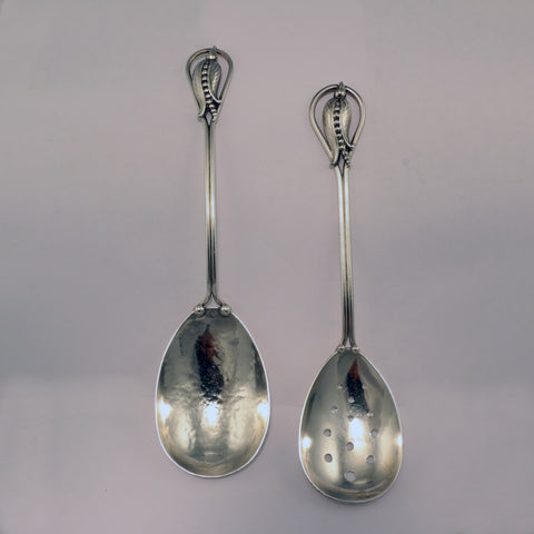 Carl Poul Petersen Sterling Salad Serving Set