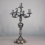 Important Pair of Louis XV Style Five-Light Silver Candelabra