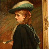 Charles Sillam Lidderdale, the Letter, Oil on Canvas, Portrait of a Young Lady