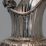 William IV Hall Marked Silver Claret Jug by Benjamin Smith