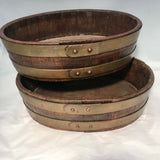 Pair of George III English Coopered Oak Oyster Buckets