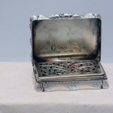 Victorian Hall Marked Silver Vinaigrette by Nathaniel Mills