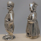 Set of Four of Dutch Silver Figural Salts and Peppers