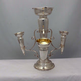 English Edwardian Hall Marked Silver Epergne