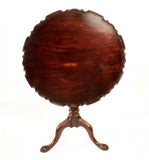 Pair of George III Style Pie Crust Tilt-Top Tables