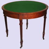 William IV Figural Walnut Demilune Games Table