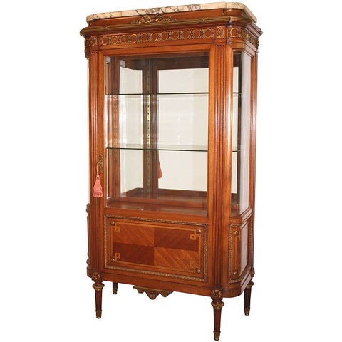 Louis XVI Style Mahogany and Gilt Bronze Display Cabinet