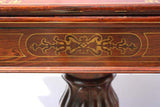 Mahogany Brass Inlaid Fold-over Games Table