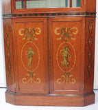 Edwardian Satinwood Bookcase Cabinet