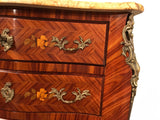 Seminaire, Tallboy Louis XV Style in Marquetry Kingwood