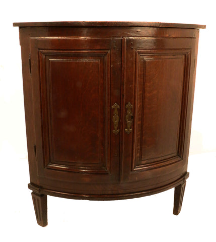 French Late 18th Century Oak Corner Cabinet