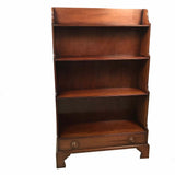 Pair of George III Style Dwarf Mahogany Bookcases by Arthur Brett