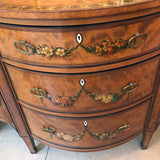 Sheraton Revival Painted Satinwood Side Cabinet