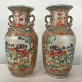 Large Pair of Chinese Export Vases in the Rockefeller Palette