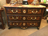 French Regence Mahogany and Marquetry Commode