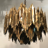 Tom Greene Brutalist Torch Cut Chandelier