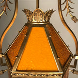 French Art Nouveau Gasolier Type Chandelier