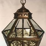 Late 19th Century Bronze Hanging Lantern