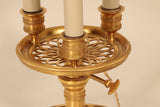 Louis XVI Style Gilt Bronze Three-Light Bouillotte Lamp