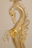 Pair of Murano Glass Seahorse Table Lamps