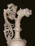 Early 20th Century Italia Alabaster Ewer Lamp on Stand