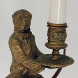 Pair of Louis XV Style Candlesticks, Modelled as Servant Monkeys
