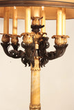 Pair of Impressive French Restoration Candelabra Mounted as Lamps