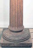 Pair of Antique Cast Iron Columns, Mounted as Exterior Street Lamps