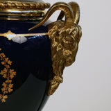 Pair of Belle Epoque Cobalt Blue and Bronze Mounted Table Lamps