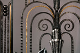 Fine Art Deco Style Wrought-Iron Door