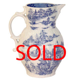 Worcester Cabbage Leaf and Mask Jug