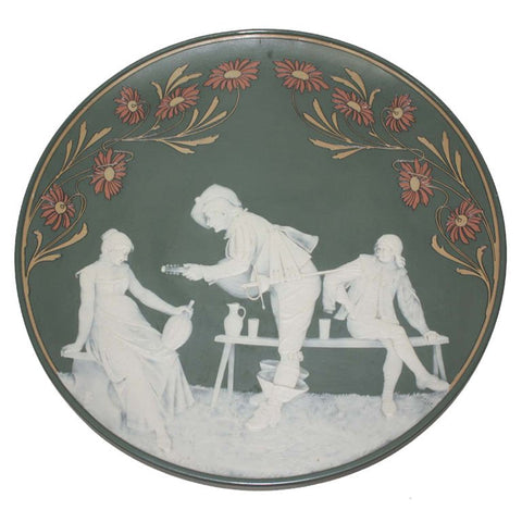 Mettlach Stoneware Cameo Charger