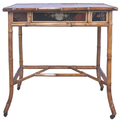 Victorian Japoniste Bamboo and Lacquer Table