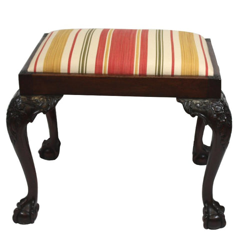 Chippendale Style Mahogany Stool
