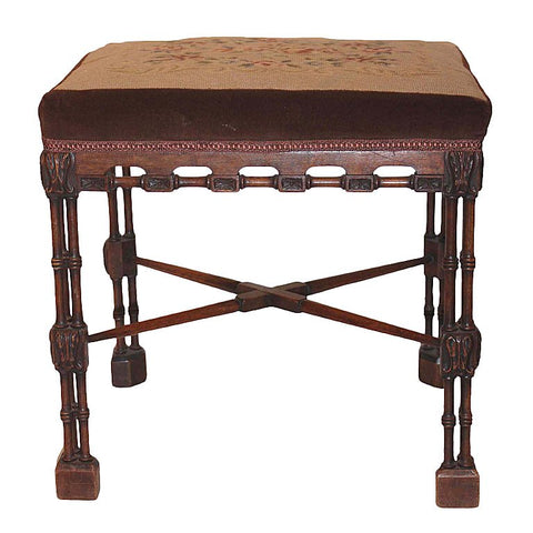 Chippendale Style Walnut Stool