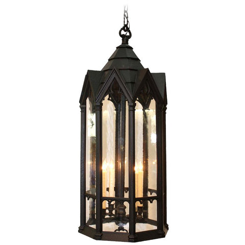 Neo Gothic Cast Metal Four Light Lantern