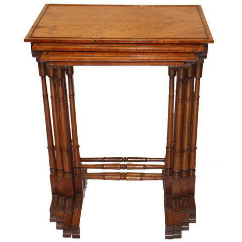 English 18th c Quartetto of Nesting Tables
