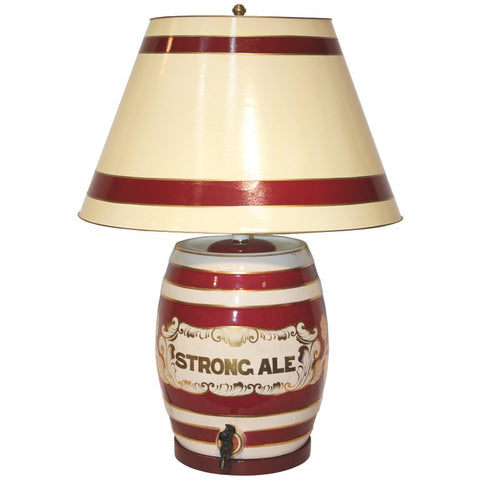 Ceramic Table Lamp as Ale Barrel