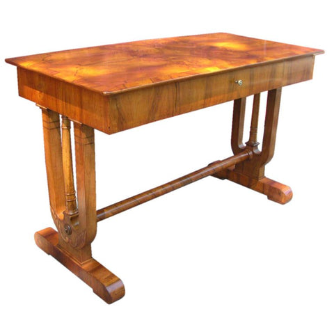 Continental Empire period Walnut Sofa Table